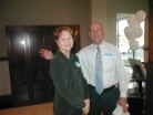 Karen Minton and David Singleton Ready for the Open House