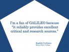 GALILEO Provides Excellent Critical and Research Sources