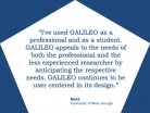 GALILEO: User Centered in Its Design