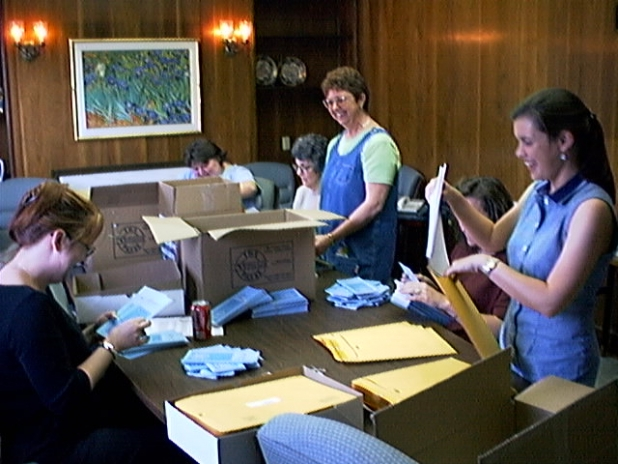 Staff Assembly Line for GALILEO Mailing