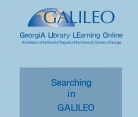 Searching in GALILEO