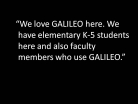 GALILEO for Elementary