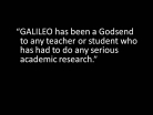 GALILEO Helps with Academic Research