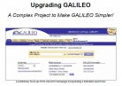 GALILEO Upgrade Flyer