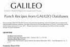 Punch Recipes from GALILEO Databases
