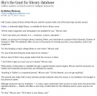 Article: Sky's the Limit for Library Database