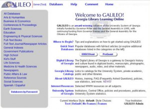 Screenshot of GALILEO from 2000-2004
